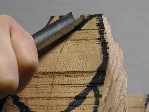 gouge creuse pour la sculpture sur bois. Black Bedroom Furniture Sets. Home Design Ideas