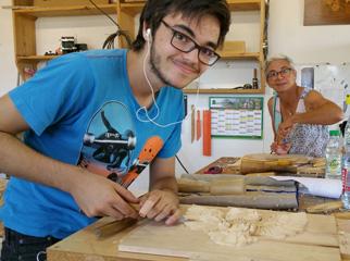 L'atelier d'un sculpteur