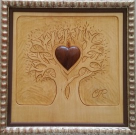 image de Anniversaire de mariage et  bois sculpté