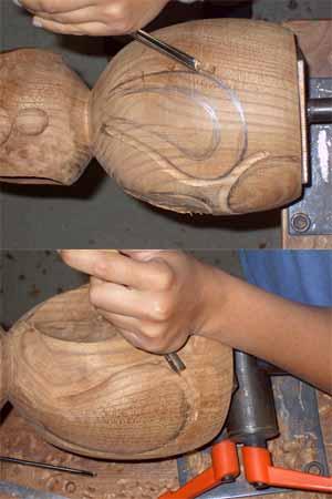 Sculpture des contours des bras