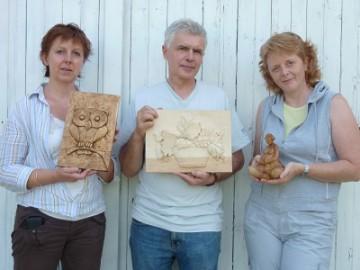 Photos des stages de sculpture sur bois