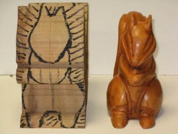 image de Tutoriel d'un écureuil sculptée. 3/11