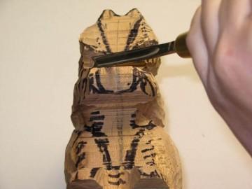 image de Tutoriel d'un écureuil sculptée. 6/11