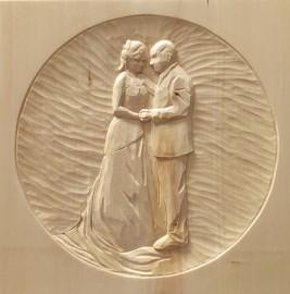 Cadeau en bois pour jeunes mariés