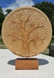 Idée sculptée pour des noces de bois