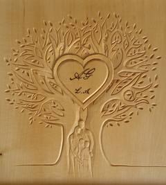 sculpture noce de bois