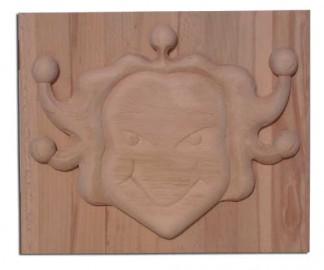 image de sculpture bas relief d'une tête.