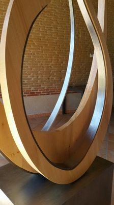 sculpture bois et fer
