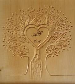 image de Sculpture noces de bois